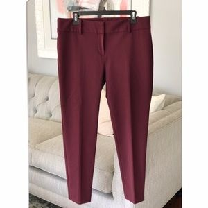 Ann Taylor | Ankle Pant Maroon | 12